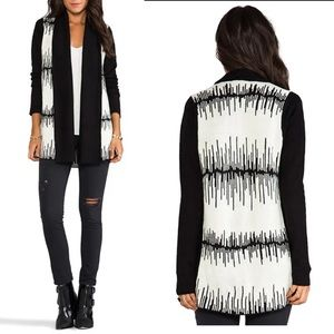 BB Dakota Women's Large Cardigan Black&White NWT
